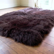 Load image into Gallery viewer, Rectangular Lined Chocolate Sheepskin Rug