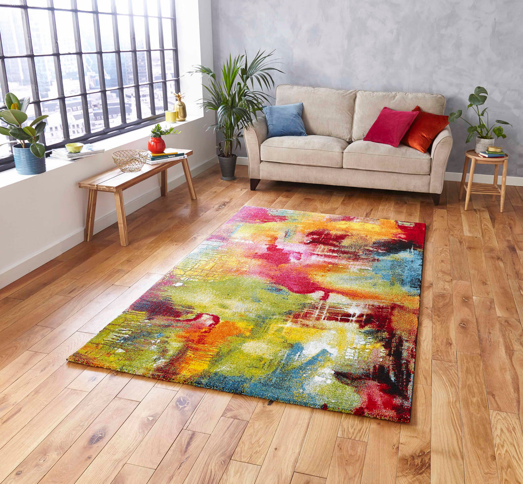 Sunrise 20754 Multi coloured Modern Rug