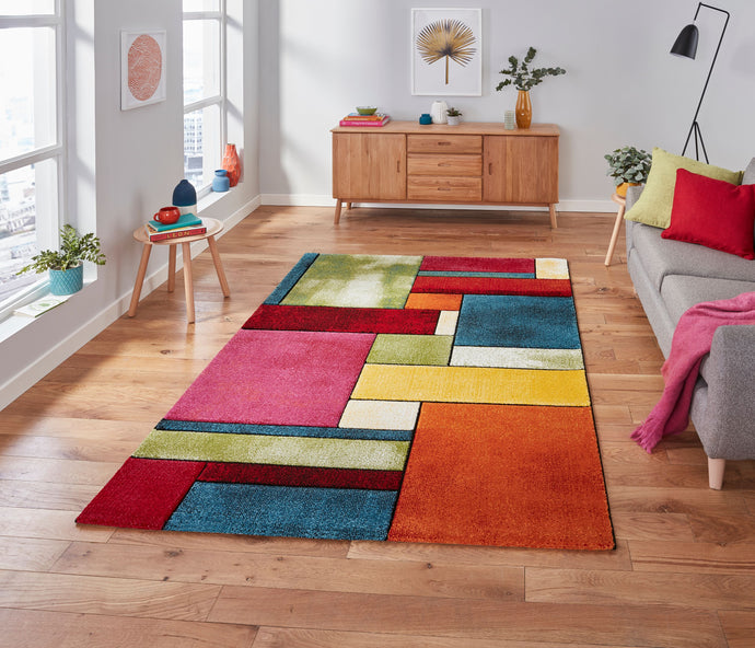 Sunrise 21821 Multi coloured Modern Rug