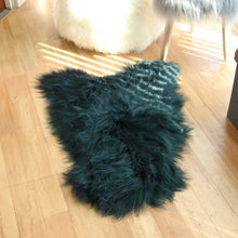 Load image into Gallery viewer, Icelandic Sheepskin Rug Teal (Single)