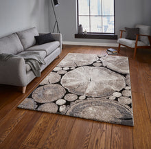 Load image into Gallery viewer, Woodland 6318 Beige and Black Modern Rug