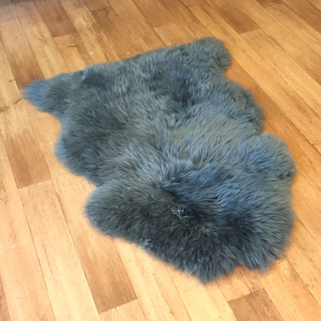 Dark Grey Sheepskin Rug (Single)