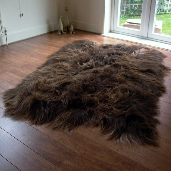 Icelandic Sheepskin Rug Rusty Brown (Octo) MEDIUM