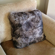 Load image into Gallery viewer, Luxury Short Haired Sheepskin Cushion - Grey