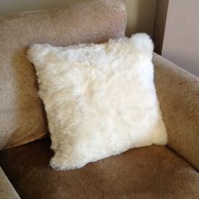 Load image into Gallery viewer, Luxury Short Haired Sheepskin Cushion - Natural