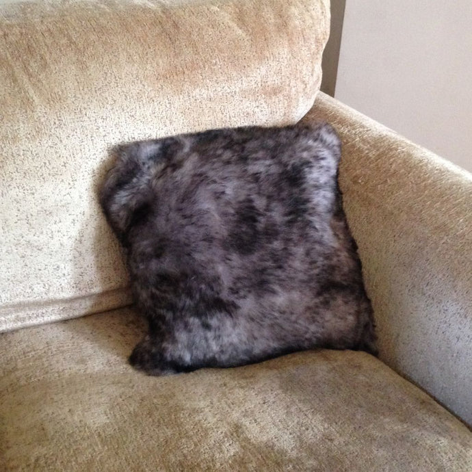 Luxury Short Haired Sheepskin Cushion - Grey
