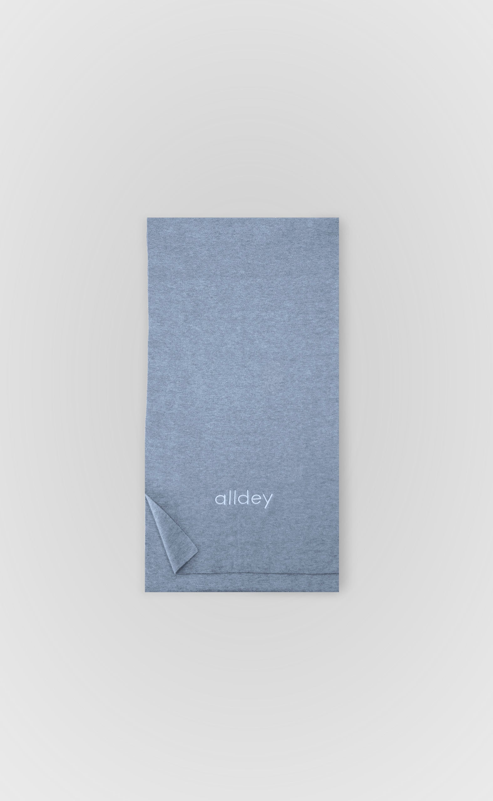 Cloudy Grey Cashmere Mix Scarf