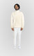ALLDEY IVORY ZIP UP SWEATER - ALLDEY