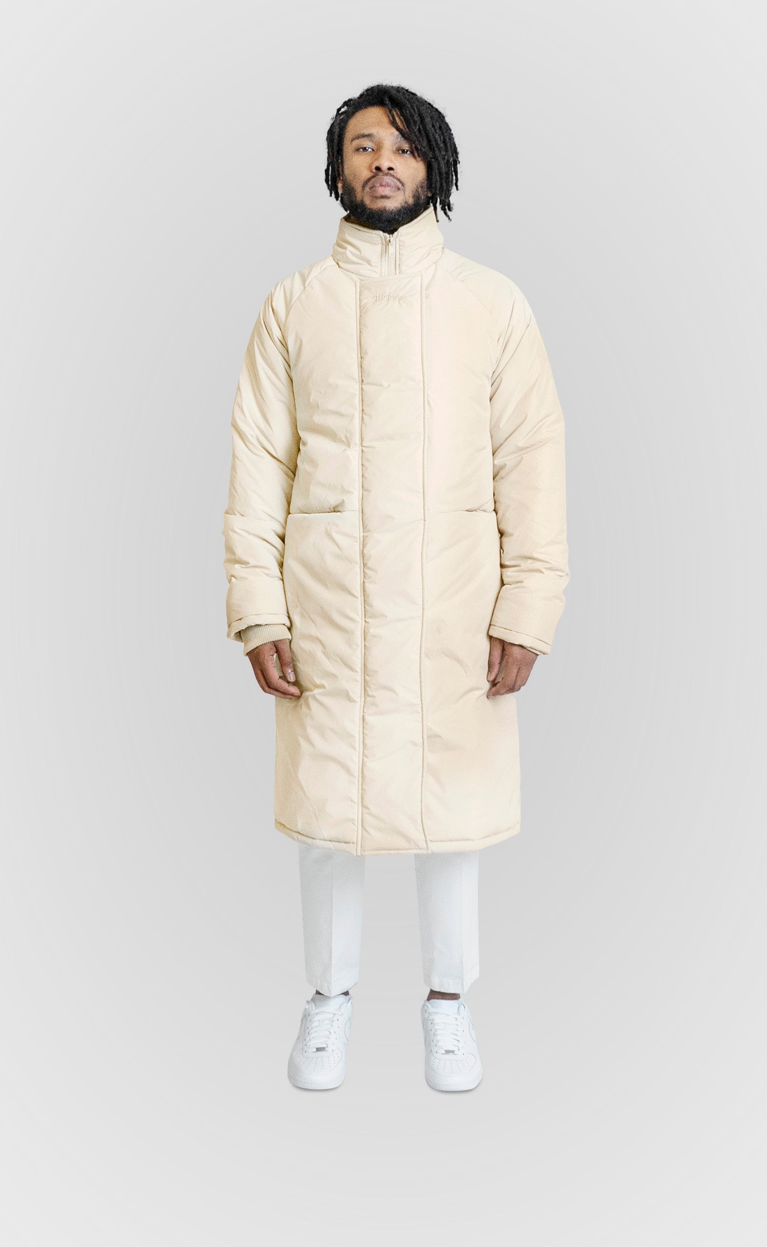 ALLDEY CREAM LONG DOWN JACKET - ALLDEY