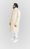 Cream Long Down Jacket - Alldey Studios