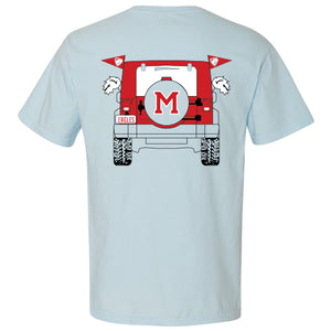 Blue Red Jeep T-Shirt