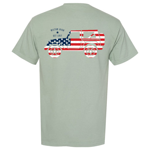 Green Jeep Patriotic T-Shirt