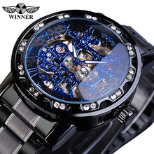 Load image into Gallery viewer, Winner Diamond Luminous Royal Design Mens Mechanical Watch