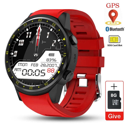 F1 Men SIM Card Sports SmartWatch (GPS, Support Pedometer Bluetooth 4.0, and Camera)