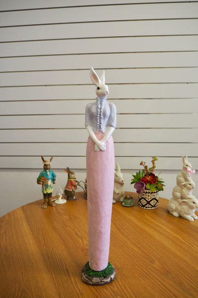 Easter Decorations - Lady White Rabbit