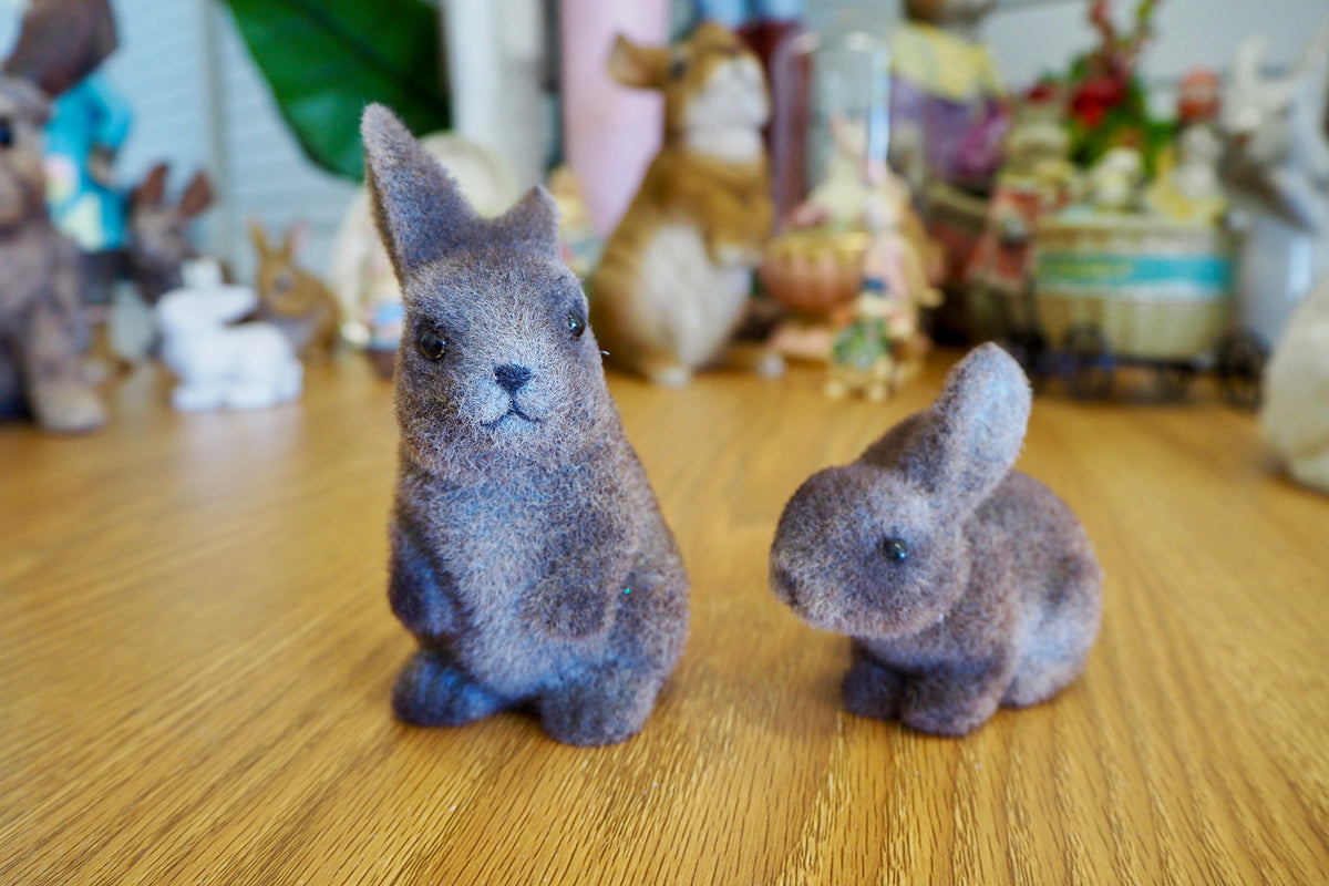 Easter Decorations - Pair Foam Brown Rabbits