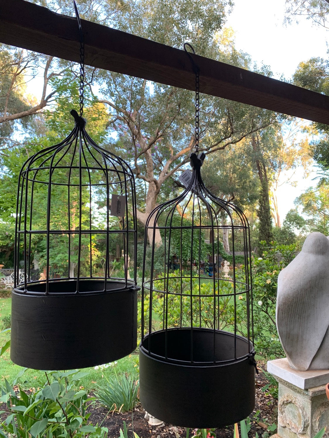Set 2 Nested Round Bird Cages