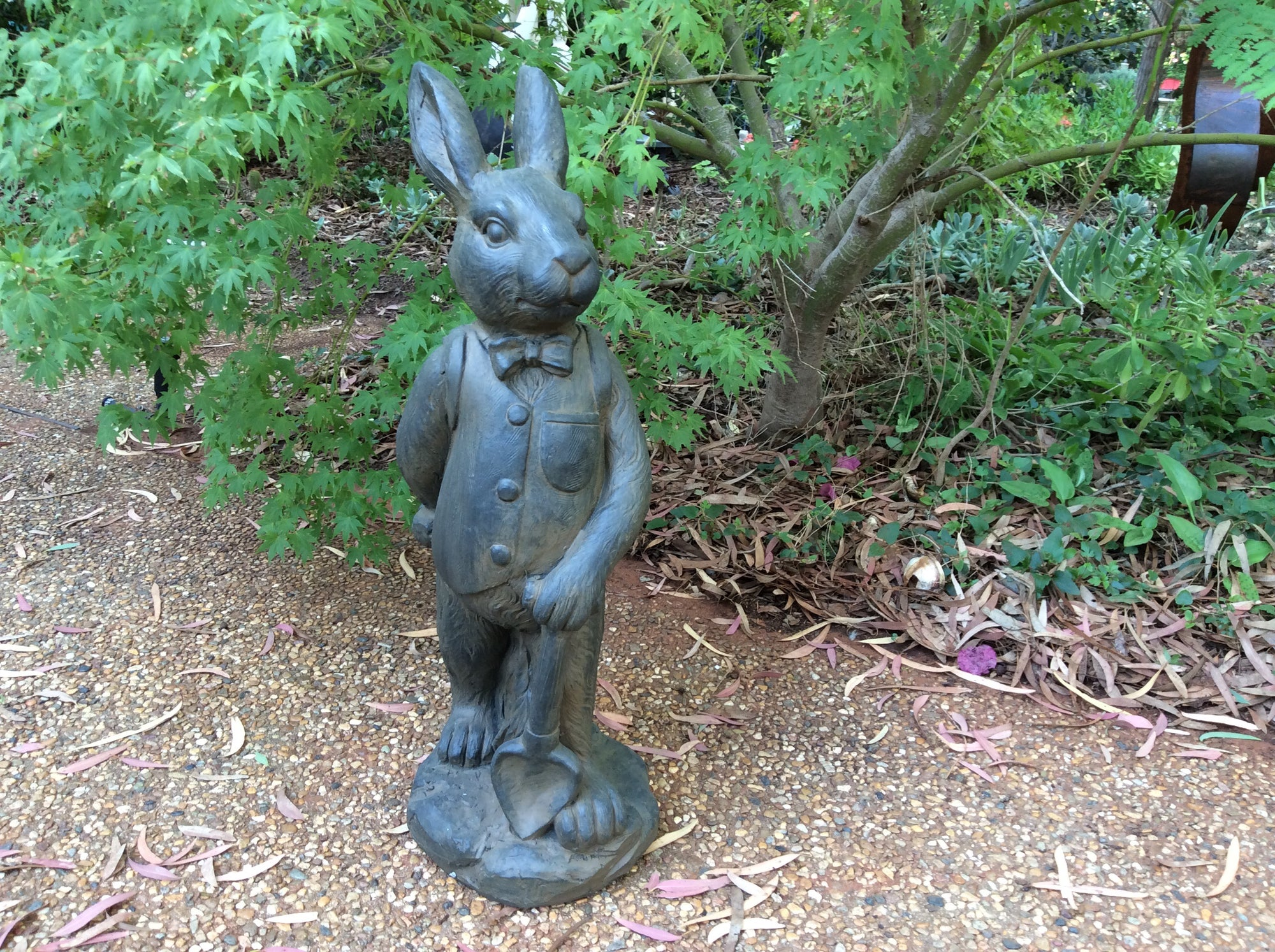 Mr. Rabbit - Rusted Iron Garden Statue