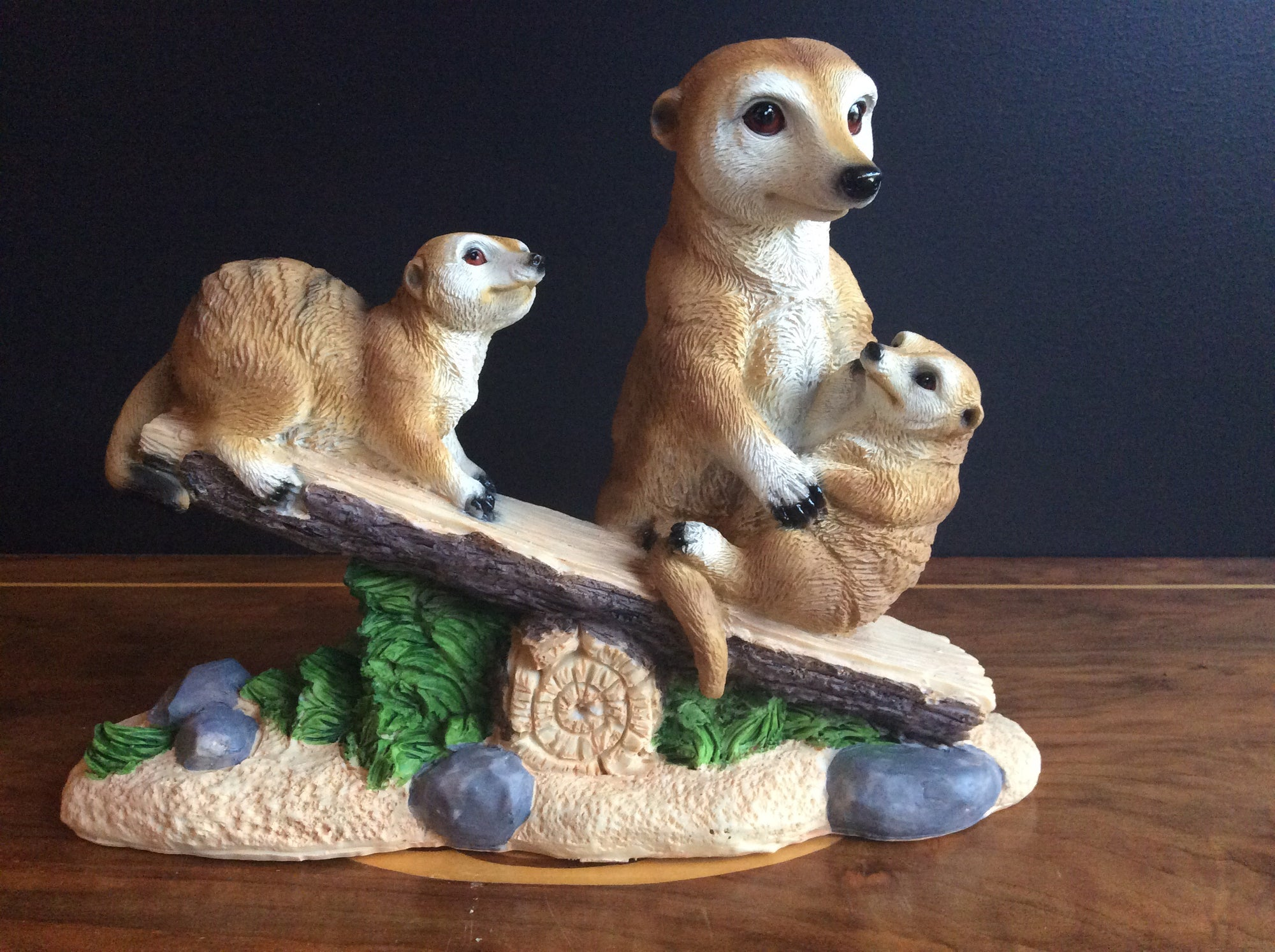 28cm Meerkat Family with Seesaw