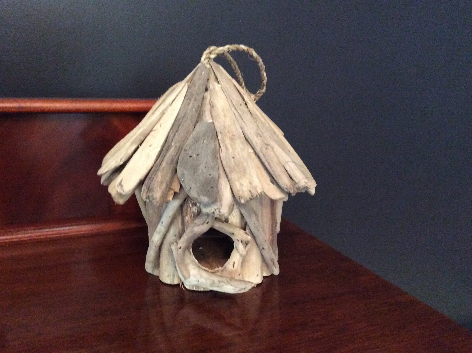 Hand Made Driftwood Birdhouse with Hanger