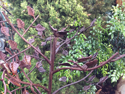 B/B Rust Bird and Leaf tree 4foot