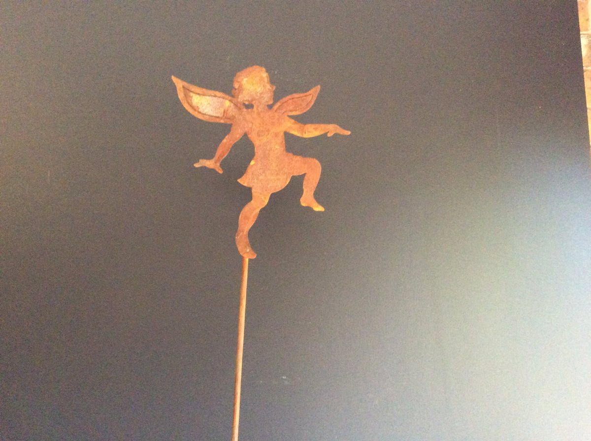 Double winged Rust Fairy Stake