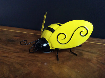 Metal Yellow large Bee