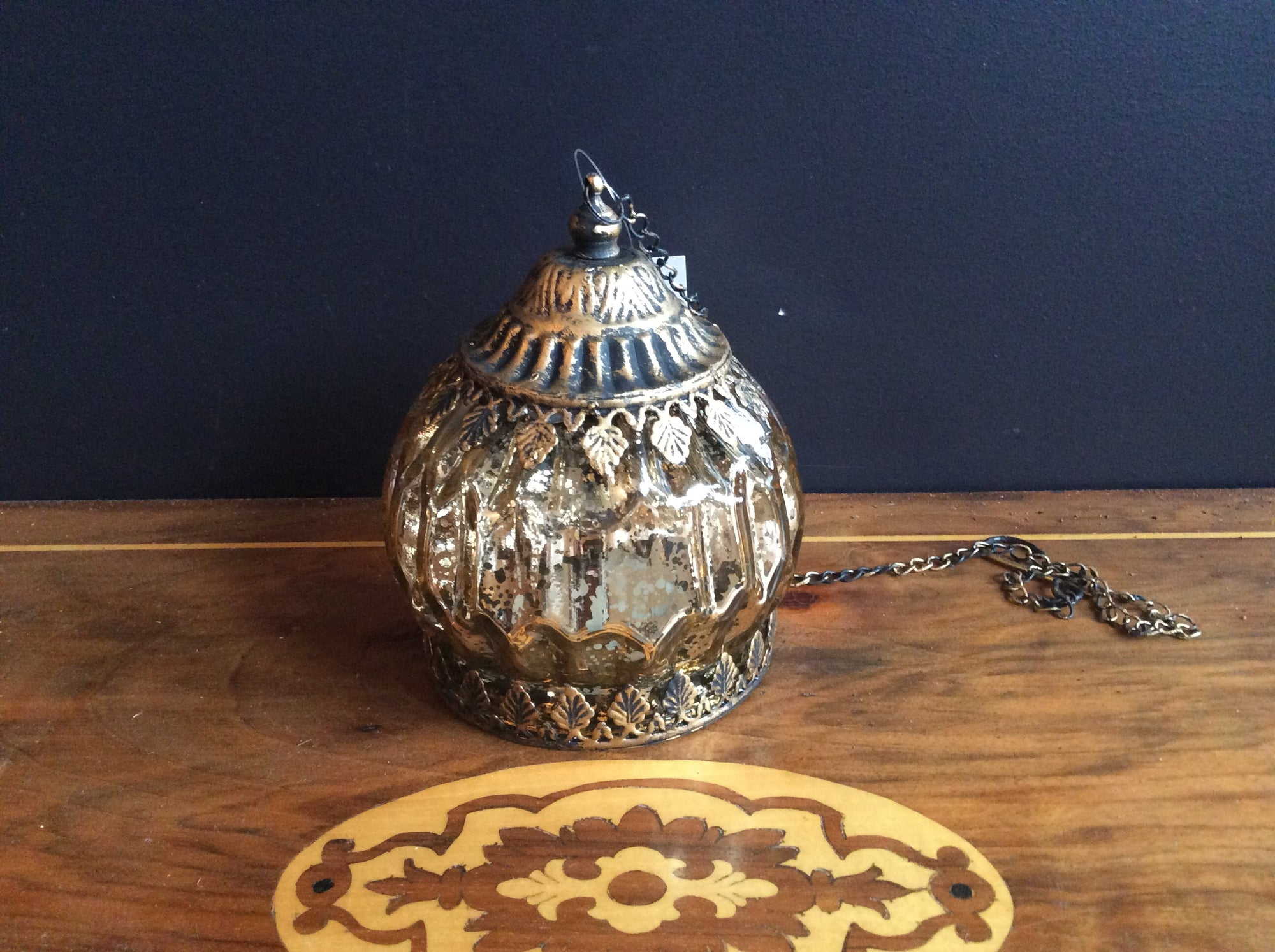 Lantern LED Bauble Gold