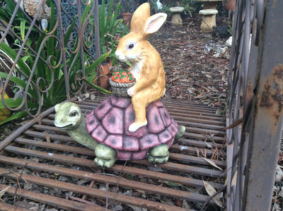 45cm Rabbit on Turtle