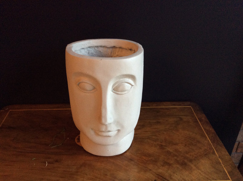 Tall Beau -Face Resin Planter