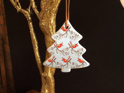 Hanging Tree - Christmas wishes - Red Bird