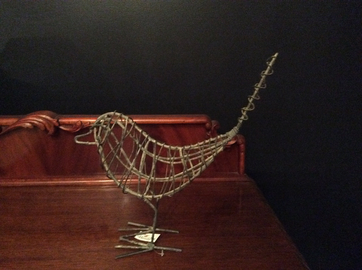 Handcrafted Wire Metal Bird