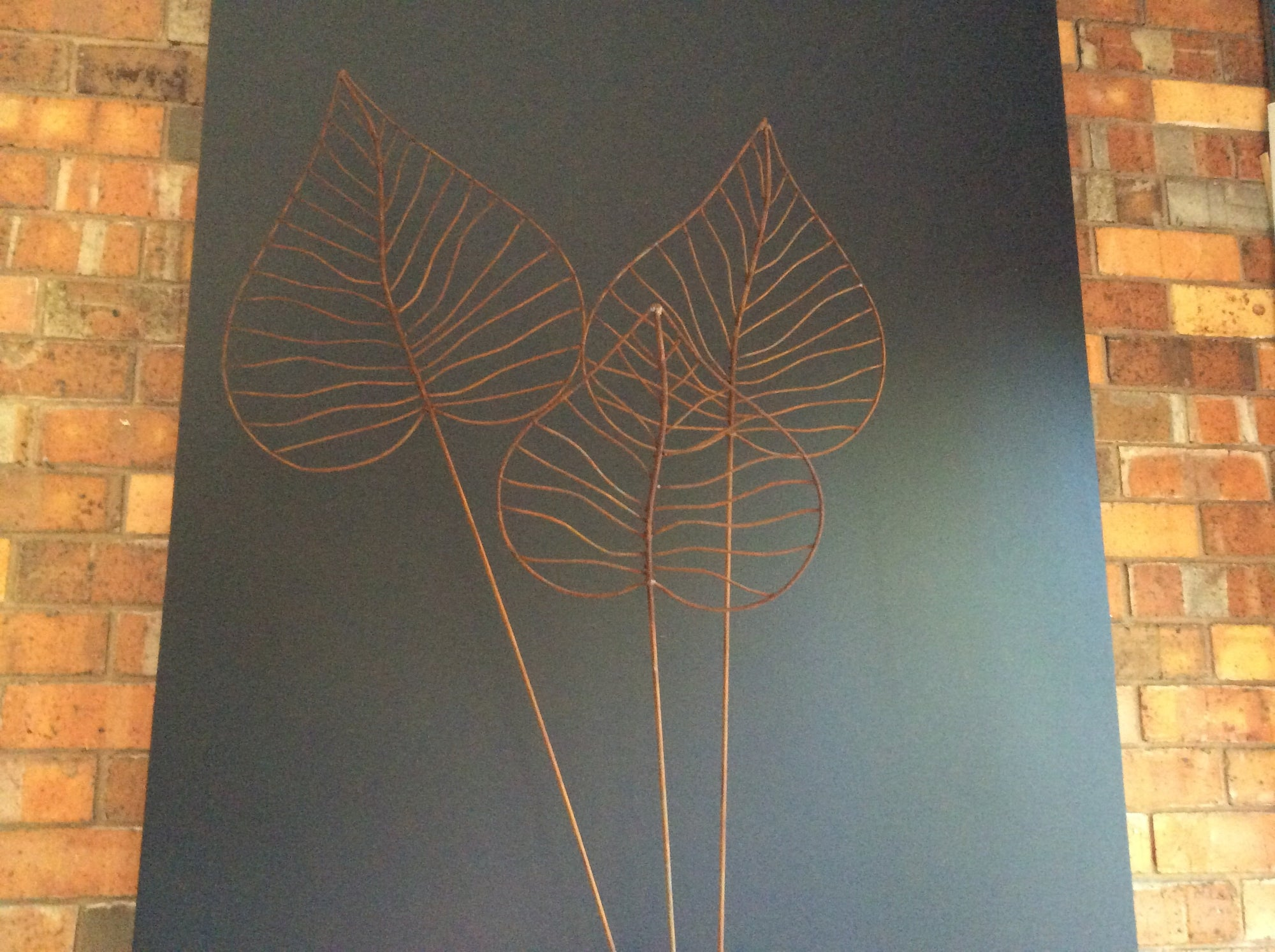 Set of 3/wire leaf stakes