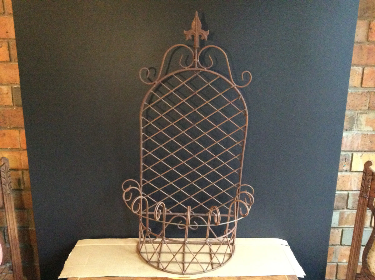 Large Rust Wall Basket