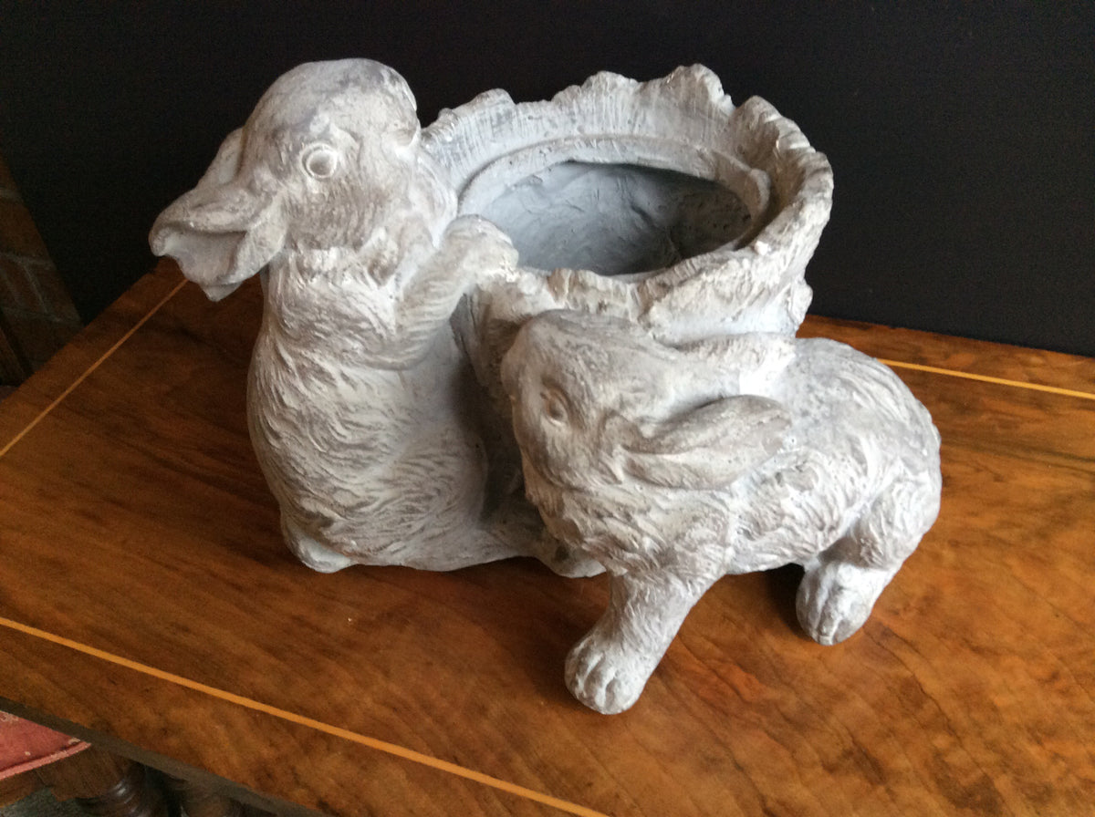 Playful Rabbits -Planter