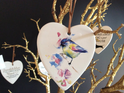 Hanging Ceramic Heart with saying