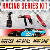 ZKIT-NAS1 -- RACING SERIES KIT -- INCLUDES: Air Hydraulic Riveter, Mini Air Body Saw, & Industrial Air Drill