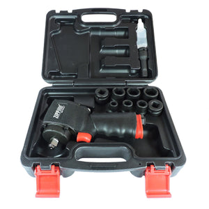 "ZIW4207JK -- 500 ft-lb -- 1/2"" Micro Mini Air Impact Wrench Kit. (Jumbo Hammer) Kit Includes 1/2"" Extension & 1/2""- 3/8"" adapter)"