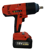 "ZIW1802 1/2"" Cordless 18V Lithium Impact Wrench 443 Ft-Lb"