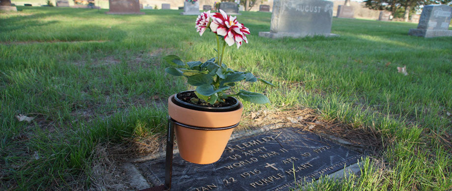 Meets cemetery requirements.