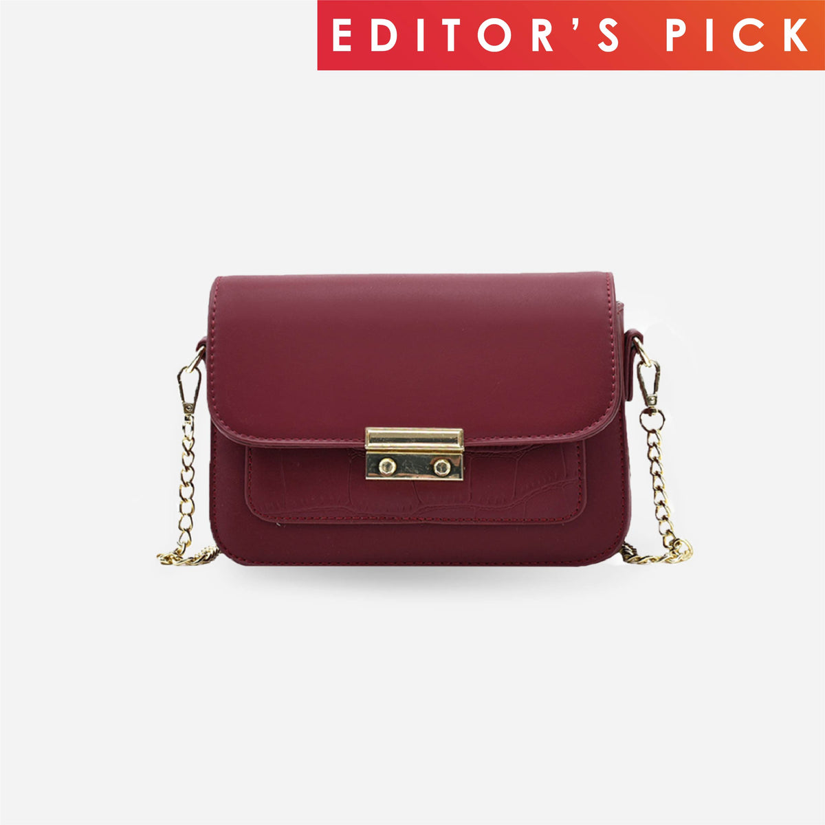 Blair Crossbody Bag - Wine Red