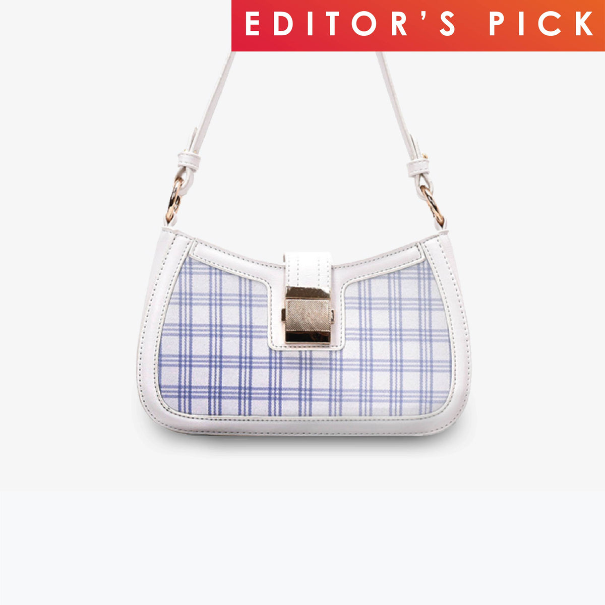 Ellise Shoulder Bag- Blue Checkered