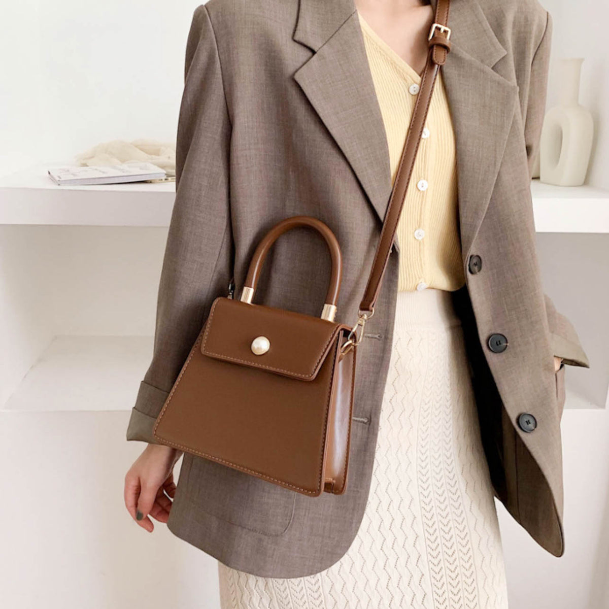 Estelle Vintage Bag - Brown