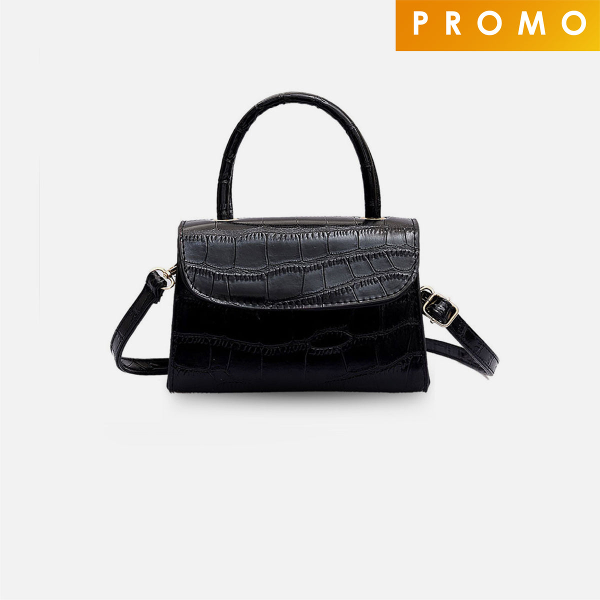 Aria Satchel Bag - Black