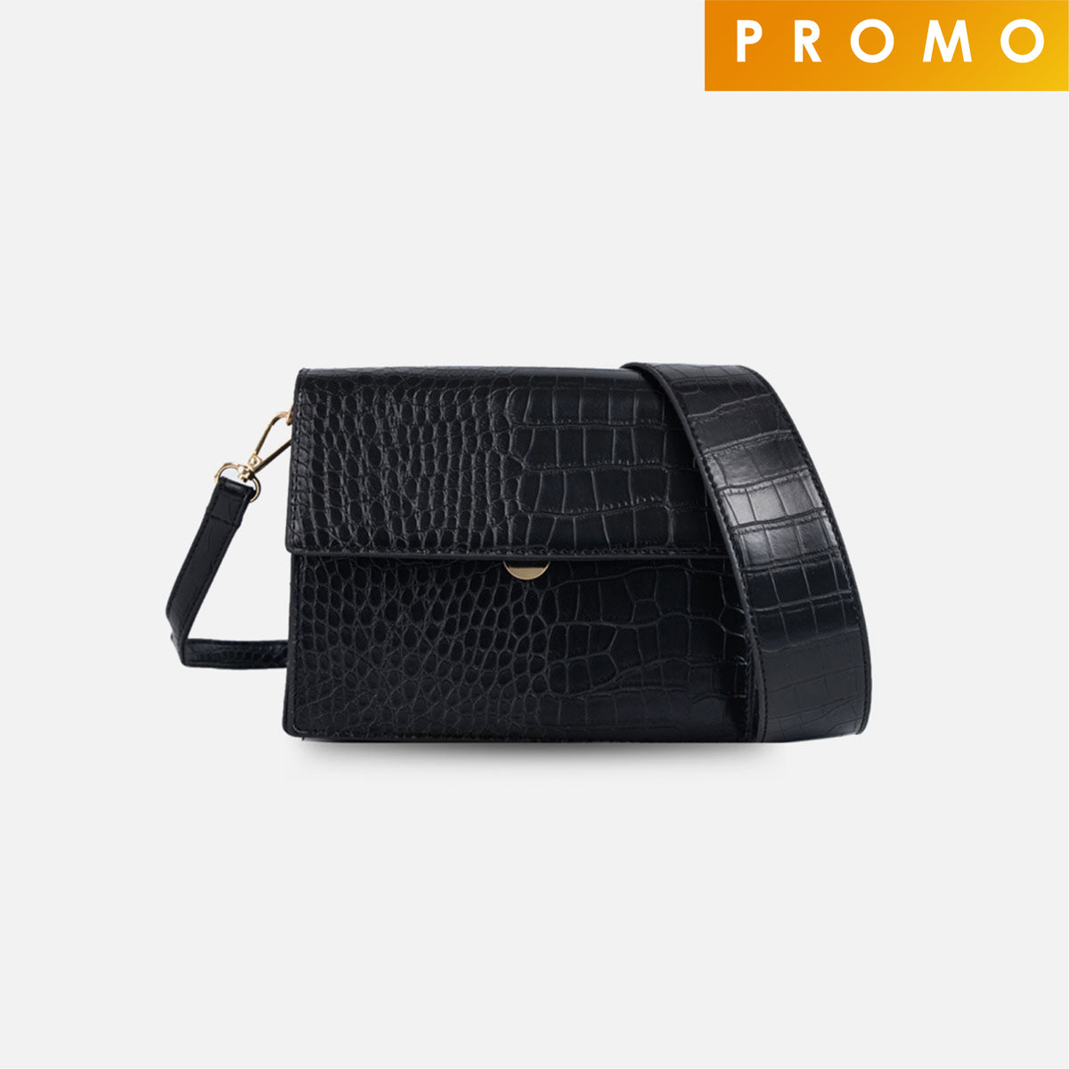 Sylvia Small Crossbody Bag - Black