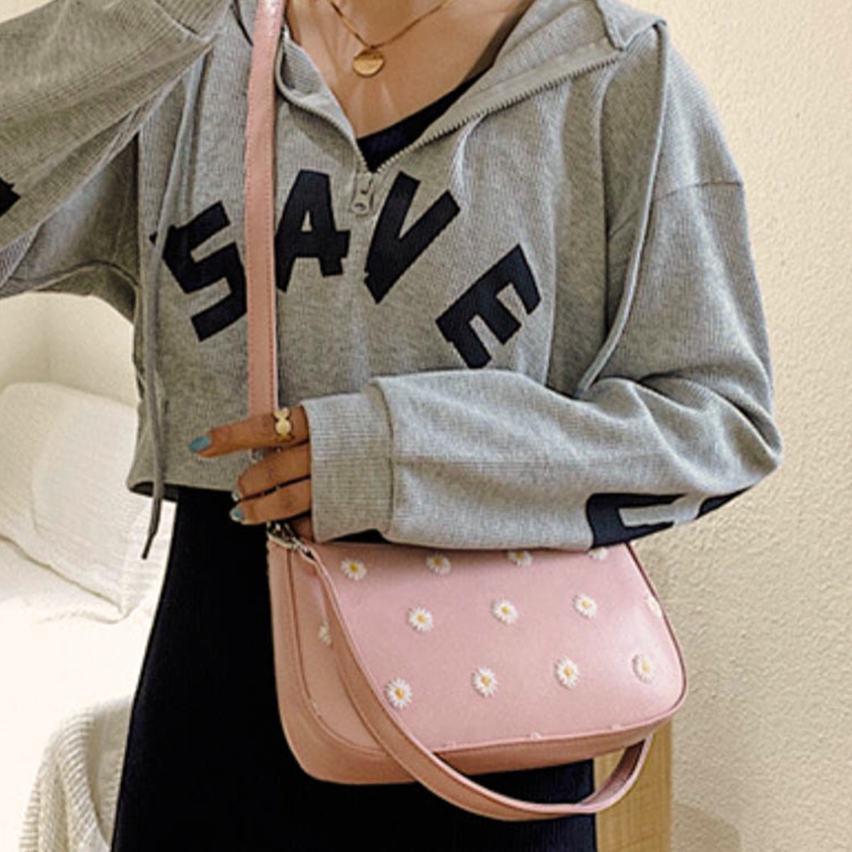 Faye Shoulder Bag - Pink