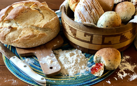 Doubting Thomas Creamy White Flour has a high protein content that creates chewy, beautifully textured breads.