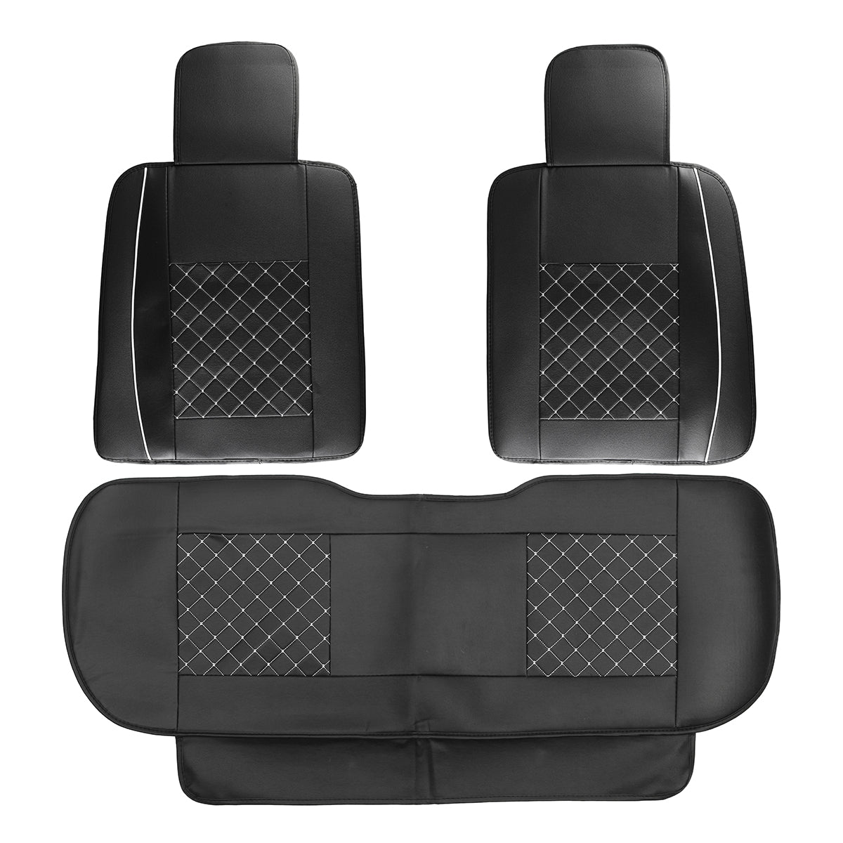 CoverX™ Universal SUV 5-Seat PU Leather Front/Rear Seat Cover