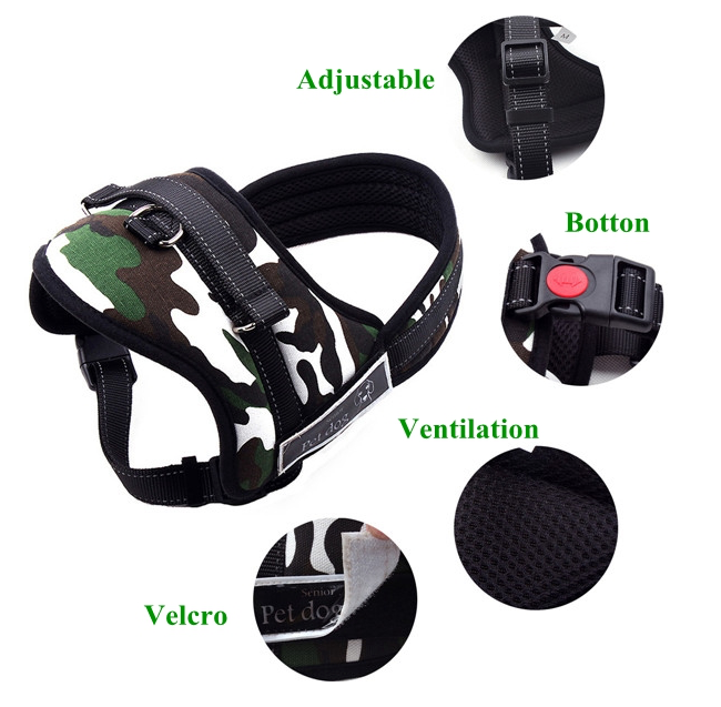 DogCart™ Dog Harness Vest Adjustable Sport Working Training