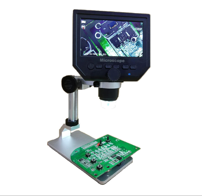 Mustool - Digital 1-600X 3.6MP 4.3inch HD LCD Display Microscope Continuous Magnifier with Aluminum Alloy Stand Upgrade Version